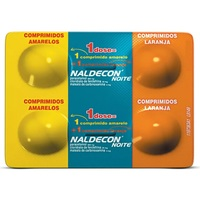 Naldecon Noite 400mg + 20mg + 400mg + 4mg, blíster com 4 comprimidos