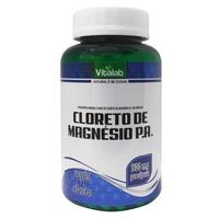 Cloreto de Magnésio P.A. Vitalab 500mg, frasco com 120 cápsulas