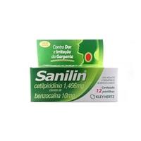 Sanilin 1,466 + 10mg tubo com 12 pastilhas, sabor menta