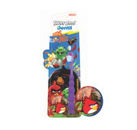 Escova Dental Dentil Kids 3+ anos, Angry Birds, macia com 1 unidade + chaveiro