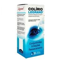 Colírio Legrand 0,30mg/mL + 0,15mg/mL, caixa com 1 frasco gotejador com 20mL de solução de uso oftálmico