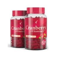 Cranberry + Vitamina C Eleve 450mg, 2 frascos com 60 cápsulas cada