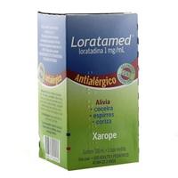Loratamed 1mg/mL, caixa com 1 frasco com 100mL de xarope