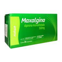 Maxalgina Comprimido 500mg, caixa com 30 comprimidos