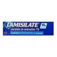Lamisilate Creme 10mg/g, caixa com 1 bisnaga com 15g de creme de uso dermatológico