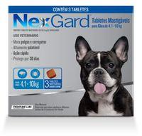 NexGard 4,1Kg a 10Kg, caixa com 3 tabletes mastigáveis
