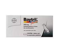 Baytril Flavour caixa com 6 comprimidos de 250mg