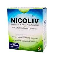 Nicoliv frasco com 60 cápsulas + spray, 50mL