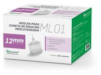 Agulha para Caneta de Insulina Medlevensohn ML01 - 29G, 12mm com 100 unidades