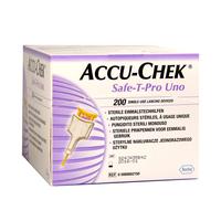 Lancetas Safe-T-Pro Uno Accu-Chek 200 unidades