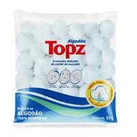 Algodão Topz bola, branco com 95g