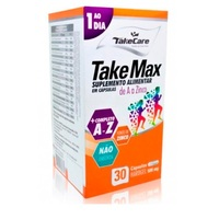 Take Max de A-Zinco 500mg, caixa com 30 cápsulas