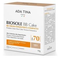 Protetor Solar Facial Ada Tina Biosole BB Cake miele, FPS 70 com 10g