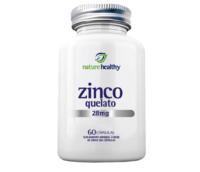 Zinc Chelated Nature Healthy 7mg, frasco, 1 unidade com 60 cápsulas