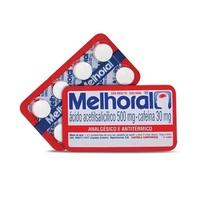 Melhoral 500mg + 30mg, blíster com 8 comprimidos adulto