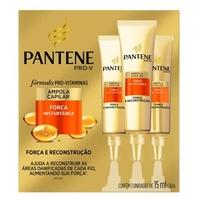 Ampola de Tratamento Pantene Pro-V Força e Reconstrução 15mL, 3 unidades