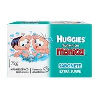 Sabonete Huggies Turma da Mônica extra suave, barra, 1 unidade com 75g