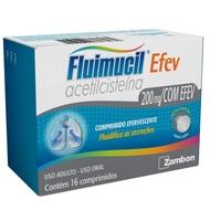Fluimucil 200mg, caixa com 16 comprimidos efervescentes