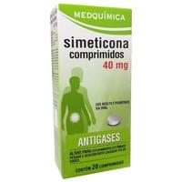 Simeticona Medquímica 40mg, caixa com 20 comprimidos