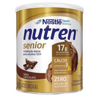 Suplemento Alimentar Nutren Senior chocolate, lata, 1 unidade com 370g