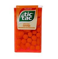 Pastilha Tic Tac laranja com 16g