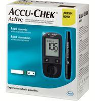 Kit Accu-Chek Active medidor + lancetador + lancetas com 10 unidades + tiras com 10 unidades