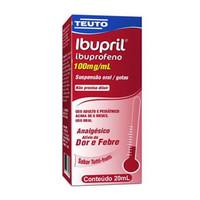 Ibupril Gotas 100mg/mL, caixa com 1 frasco gotejador com 20mL de suspensão de uso oral