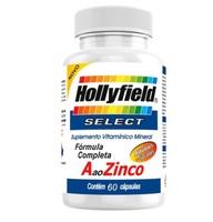 A ao Zinco Select 50+ Hollyfield 500mg, 3 frascos com 60 cápsulas cada