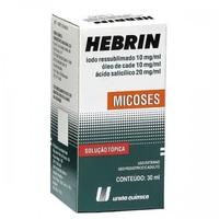 Hebrin 300mg + 300 mg + 600mg, frasco com 30mL de solução de uso dermatológico