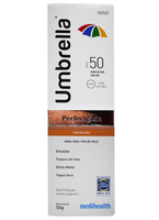 Protetor Solar Umbrella Perfect Skin FPS 50, escuro com 50g