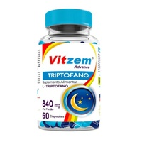 Triptofano Vitzem Advance 500mg, frasco com 60 cápsulas