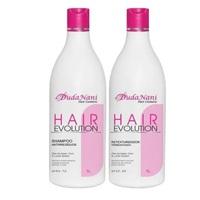 Progressiva Duda Nani Hair Evolution shampoo com 1L + retexturizador com 1L