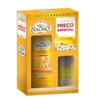 Kit Tío Nacho Antiqueda Clareador shampoo, 415mL + condicionador, 200mL