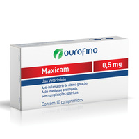Maxicam 0,5mg, caixa com 10 comprimidos