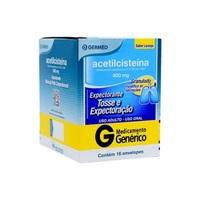 Acetilcisteína Germed Pharma 600mg, caixa com 16 envelopes com 5g de granulado de uso oral