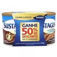 lata, chocolate, 400g + 50% de desconto na 2ª unidade