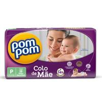 Fralda Pom Pom Colo de Mãe - P, 28 unidades