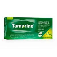 Tamarine 29,268mg + 23,400mg, caixa com 20 cápsulas