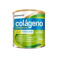 Colágeno Hidrolisado 2 em 1 Maxinutri frasco com 250g de pó para solução de uso oral, sabor uva verde