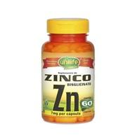 Zinco Unilife 500mg, frasco com 60 cápsulas
