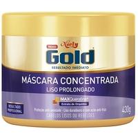 Máscara Concentrada Niely Gold Liso Prolongado 430g