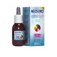 Neosoro Infantil 9mg/mL, caixa com 1 frasco com 30mL de solução de uso nasal + conta gotas