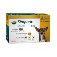 Simparic 1,3 a 2,6Kg, 5mg, caixa com 3 comprimidos