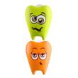dentinho, verde e laranja, 2 unidades