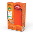 pele clara, FPS 70, 50g + grátis, necessaire laranja