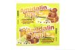 1 sachê contendo 5 balas sabor mel e limão